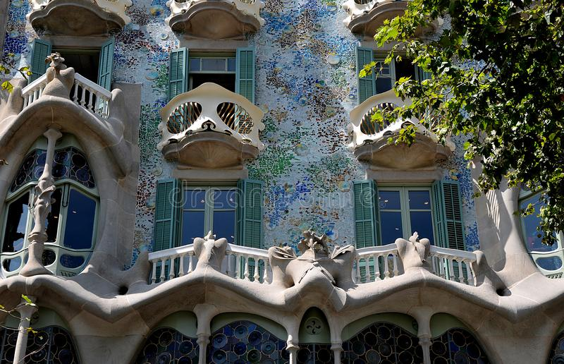 Casa batlilo antoni Gaudi house in Barcelona. Barcelona/catalonia/ Spain/ 22.July 2019/  Casa batilo antonio Gaudi house in Barcelona Catalonia Spain. Photo stock photo