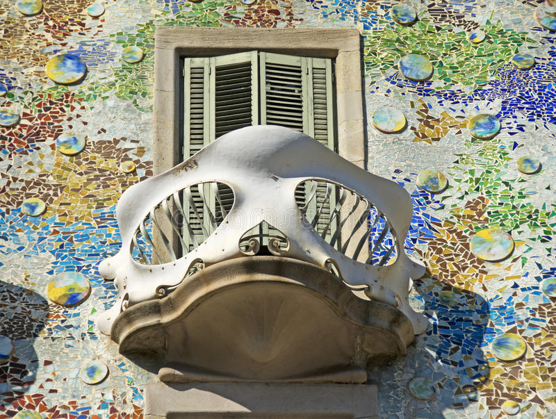 Casa Batlló, Barcelona. Casa Batlló is a renowned building located in the center of Barcelona, Spain, and is one of Antoni Gaudí's masterpieces stock photos