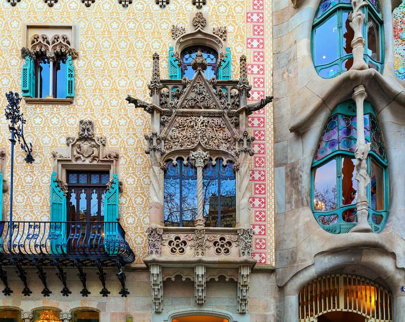 Casa Batllà ³ Amatller w Barcelona i Casa, Hiszpania fotografia stock