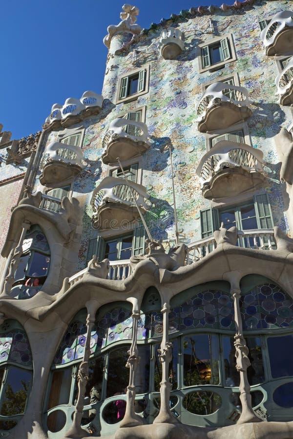 Casa Batlló em Barcelona fotografia de stock royalty free