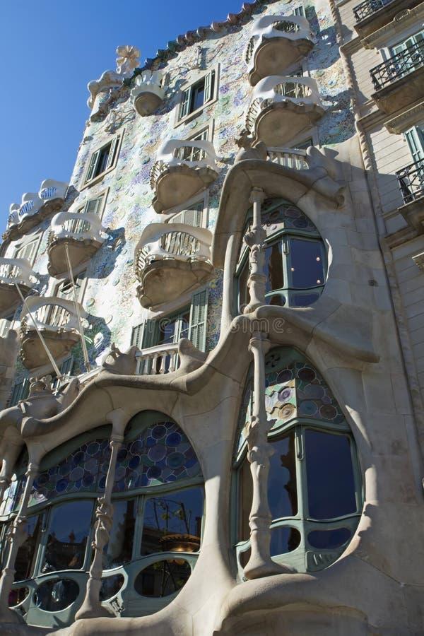 Casa Batlló em Barcelona fotos de stock