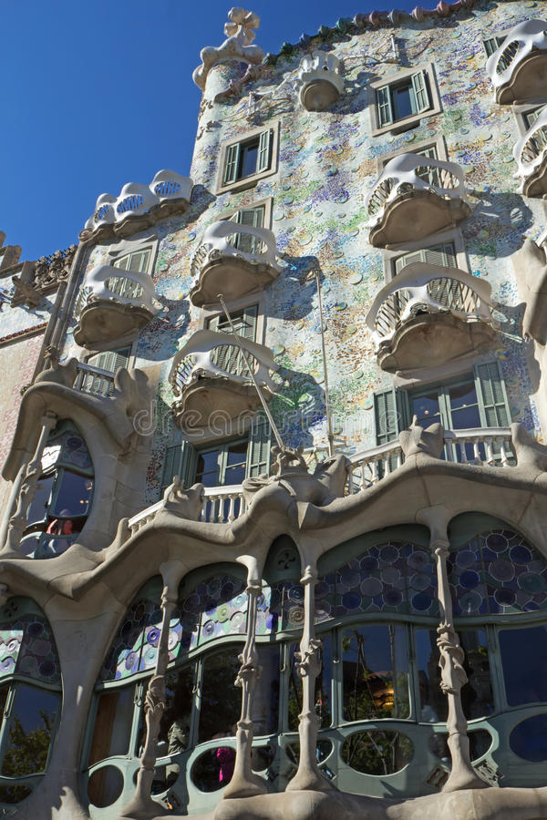 Casa Batlló en Barcelona fotografía de archivo libre de regalías