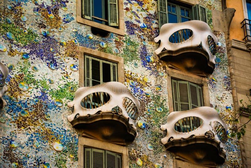 Casa Batllo. Casa Batlló. Gaudis house. Passeig de Gràcia. Barcelona stock photos