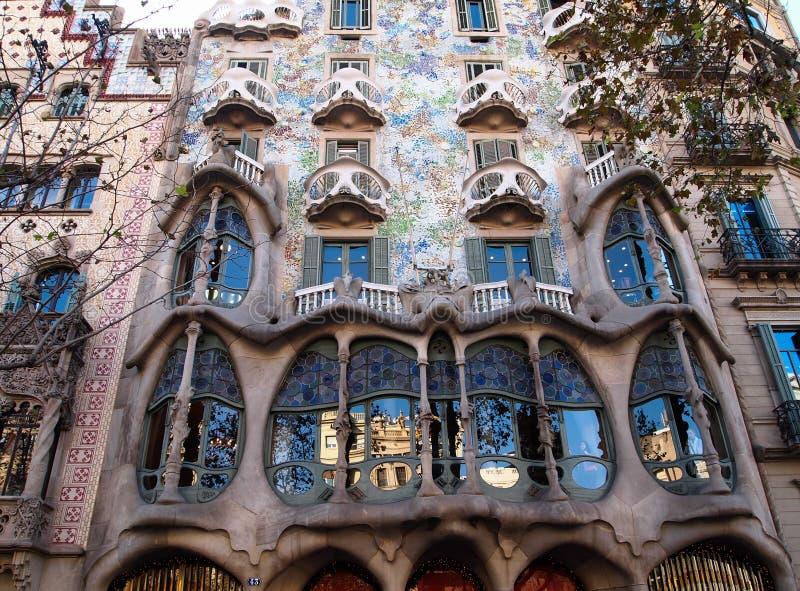 Casa Batlló i Barcelona, Spanien royaltyfri foto
