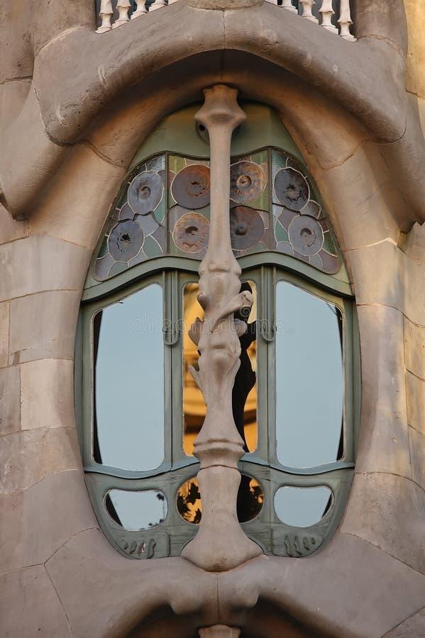Casa Batllo. Interesting building detail from Barcelona.Casa Batllo royalty free stock image