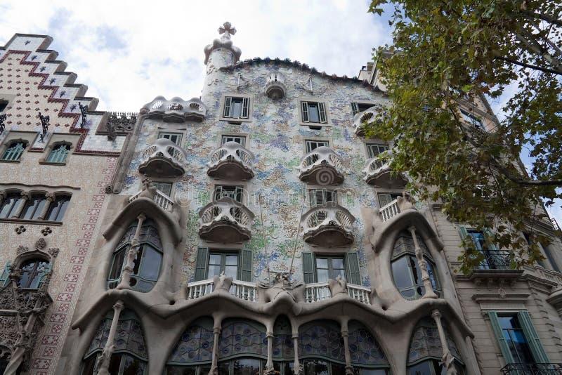 Casa Batllo. In Barcelona, Spain by architect Gaudi royalty free stock image