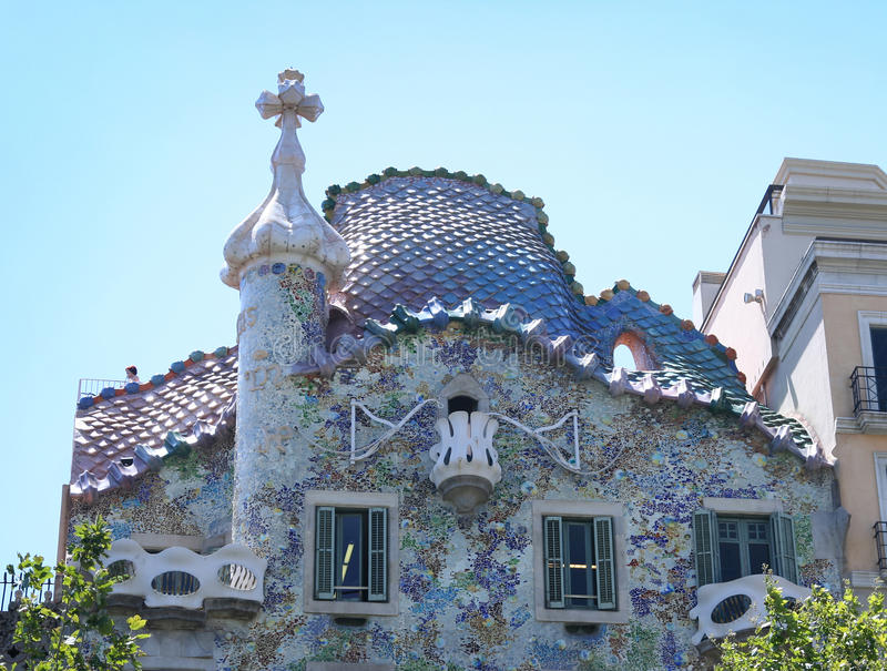 Casa Batllo 2. BARCELONA, SPAIN - AUGUST 20, 2011: Exterior of Casa Batllo on August 20, 2011 in Barcelona, Spain. The famous building was designed by catalan stock photo