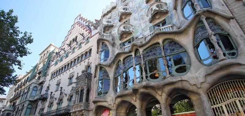 Casa Batllo. In Barcelona,designed by Antonio Gaudi stock images