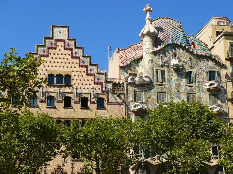 Casa Batllo. By Antoni Gaudi royalty free stock photos