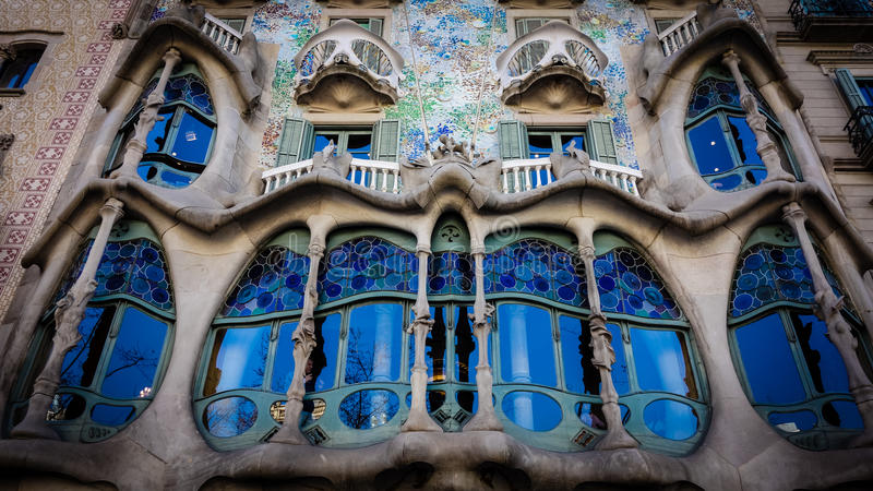 Casa Batllo, Antoni Gaudí Modernist Museum in Barcelona. Casa Batllo is a renowned building located in the center of Barcelona and is one of Antoni Gaud royalty free stock photo