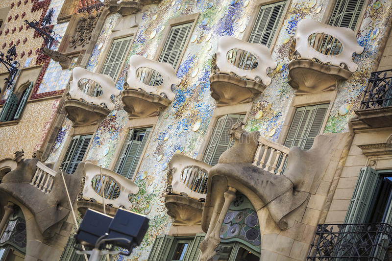 Casa Batllo by Antoni Gaudi in Barcelona, Spain. Casa Batllo by Antoni Gaudi in Barcelona, Catalonia, Spain royalty free stock photography