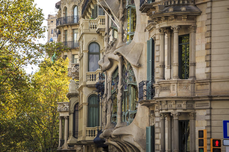 Casa Batllo by Antoni Gaudi in Barcelona, Spain. Casa Batllo by Antoni Gaudi in Barcelona, Catalonia, Spain stock images