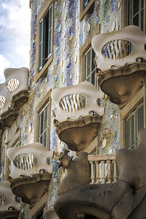 Casa Batllo by Antoni Gaudi in Barcelona, Spain. Casa Batllo by Antoni Gaudi in Barcelona, Catalonia, Spain stock photos