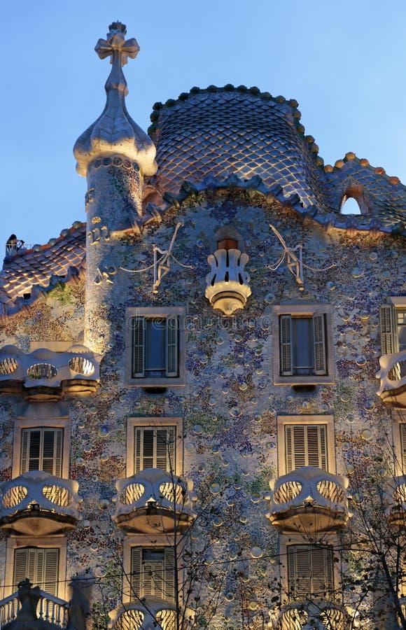 Casa Batllo, arquitectura de Gaudi, Eixample, Barcelona, España fotos de archivo