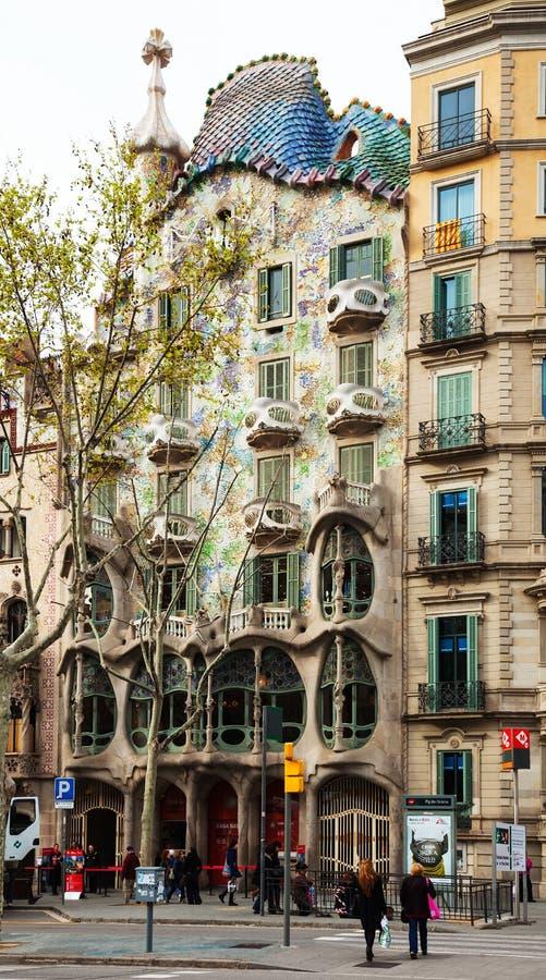 Casa Batllo. Barcelon arkivfoton