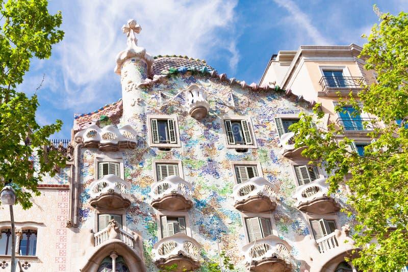 Casa Batllo, Barcelona. BARCELONA - APRIL,26: Casa Batllo on April 26, 2012 in Barcelona. Building was restored by Antoni Gaudi and Josep Maria Jujol, built in royalty free stock photos