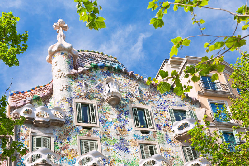 Casa Batllo, Barcelona. BARCELONA - APRIL,26: Casa Batllo on April 26, 2012 in Barcelona. Building was restored by Antoni Gaudi and Josep Maria Jujol, built in stock images