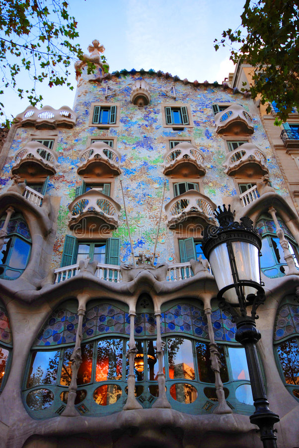 casa batllo barcelona obraz royalty free
