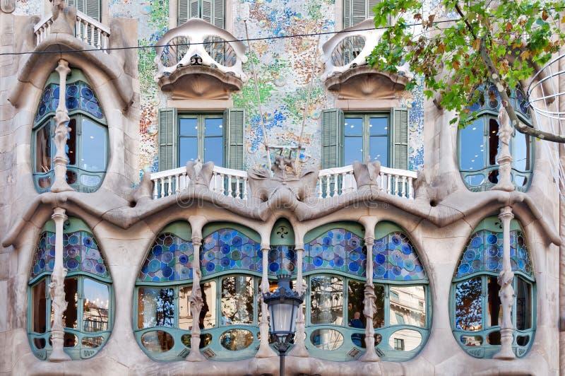 Casa Batllo in Barcelona royalty-vrije stock afbeeldingen