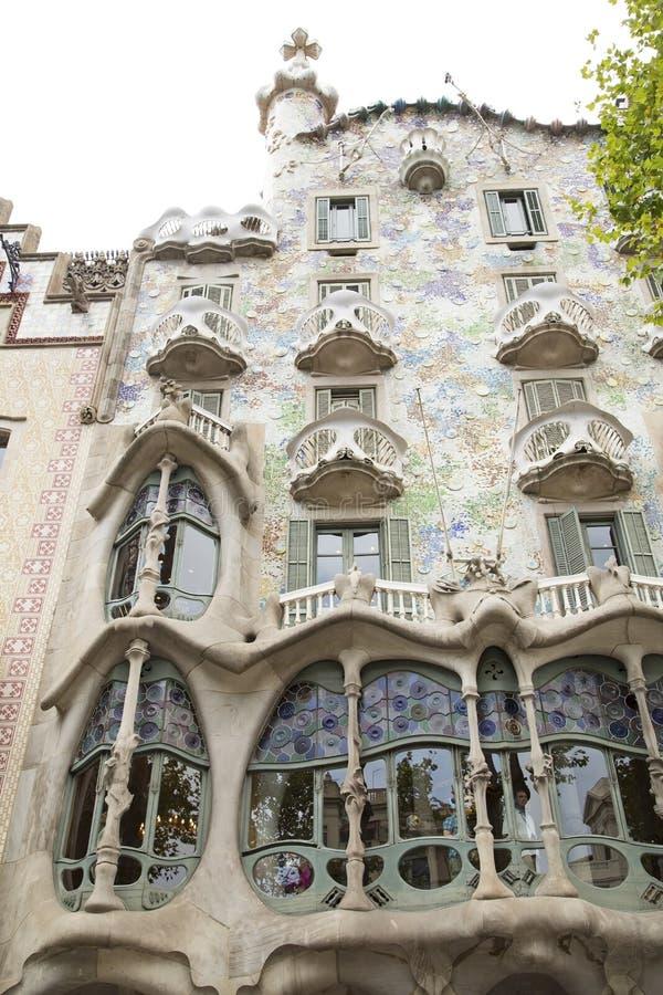 Casa Batllo in Barcelona. Spain. The architectural masterpiece of Antonio Gaudi stock photography