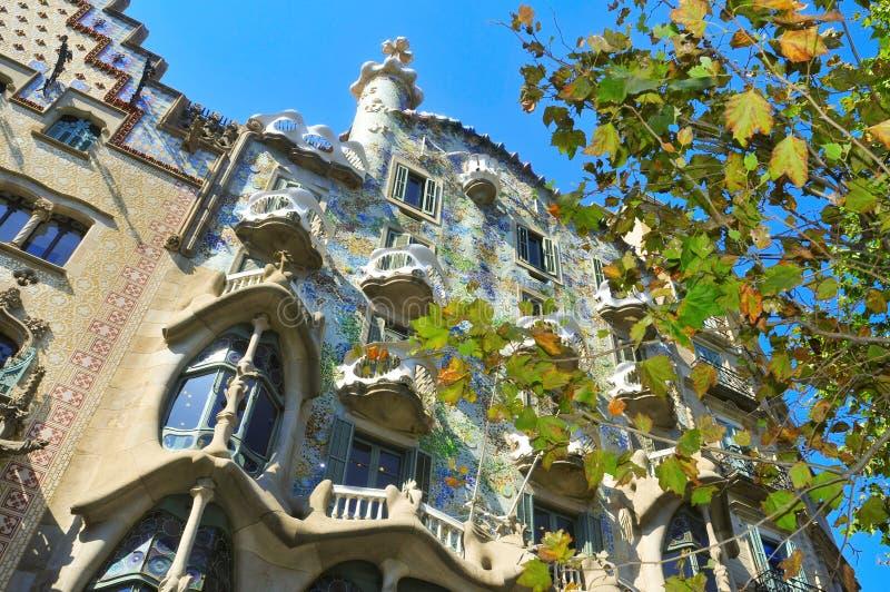 Casa Batllo in Barcelona, Spain royalty free stock photos