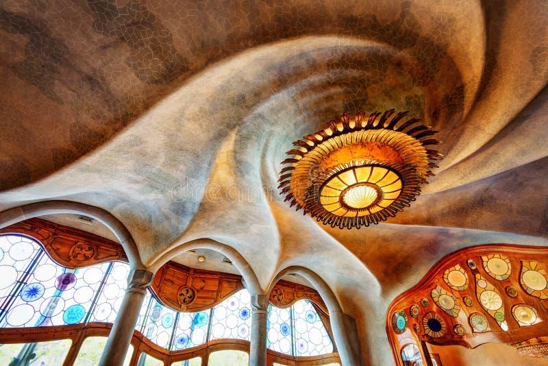 Casa Batllo Barcelona Spanien arkivbild
