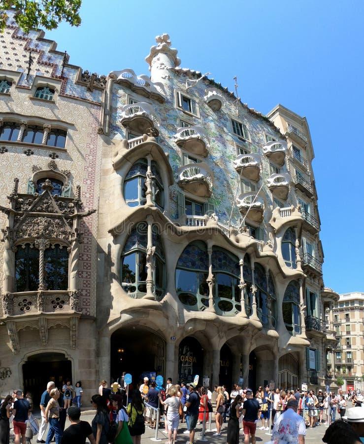 Casa Batllo do ` s de Antonio Gaudà a casa dos ossos, Barcelona fotos de stock royalty free