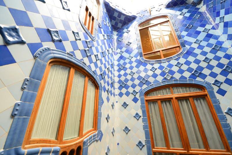 Casa Batllo, Eixample District, Barcelona, Spain royalty free stock image