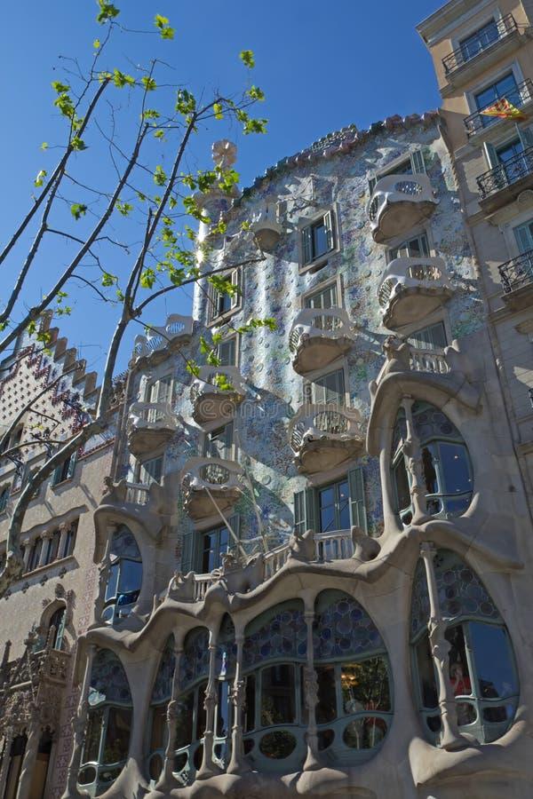 Casa Batllo en Barcelona fotos de archivo