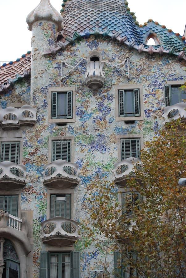 Casa Batllo, Gaudi. Casa Batllo, piece of art from Gaudi, Barcelona royalty free stock photo