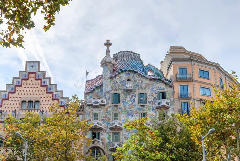 Casa Batllo, House built by Antonio Gaudi, Spain Barcelona. Spain Barcelona Casa Batllo, Antonio Gaudi royalty free stock image