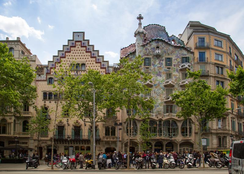Gaudi architecture in Barcelona royalty free stock photography