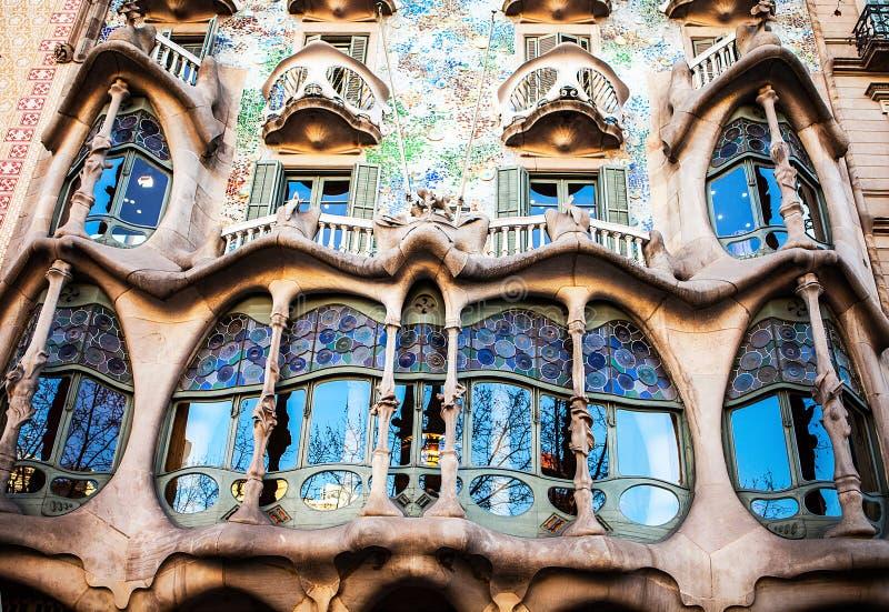 Casa Batllo op 20 April, 2016 in Barcelona, Spanje stock afbeelding
