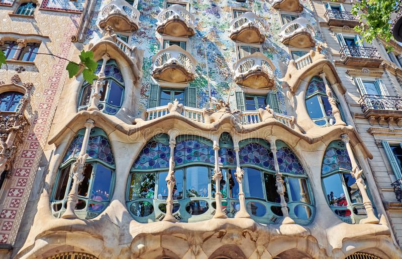 Casa Batllo  is a renowned building located in the center of Barcelona. BARCELONA, SPAIN -MAY 19, 2018:  Casa Batllo  is a renowned building located in stock photo