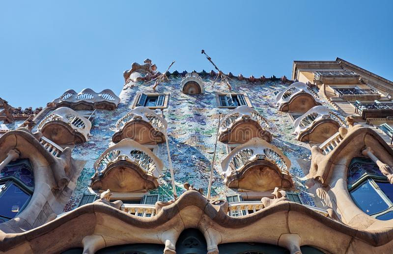 Casa Batllo  is a renowned building located in the center of Barcelona. BARCELONA, SPAIN -MAY 19, 2018:  Casa Batllo  is a renowned building located in royalty free stock photography