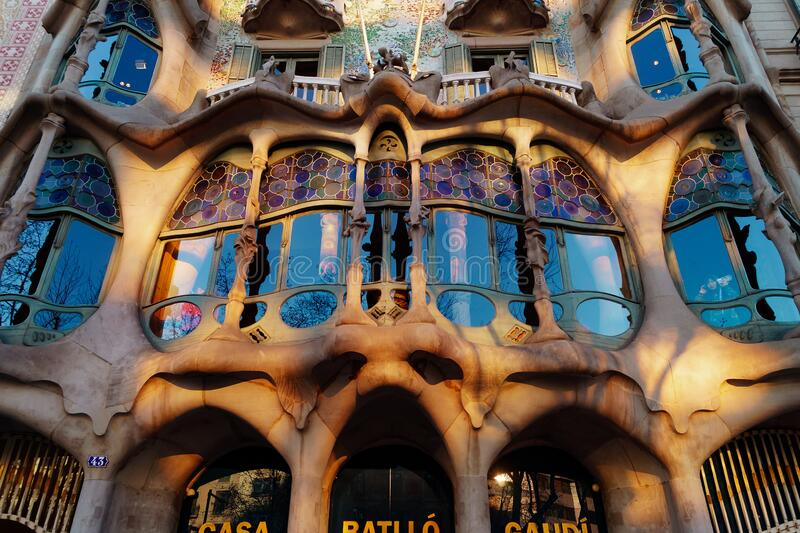 Casa Battló in Barcelona royalty free stock images
