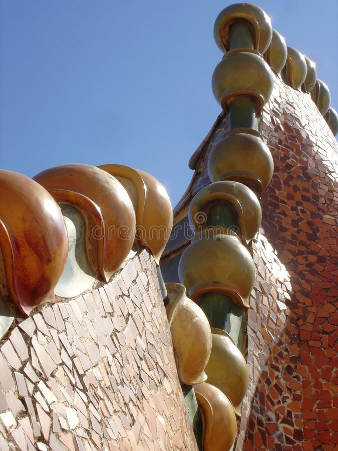 Casa Battlo royalty free stock image