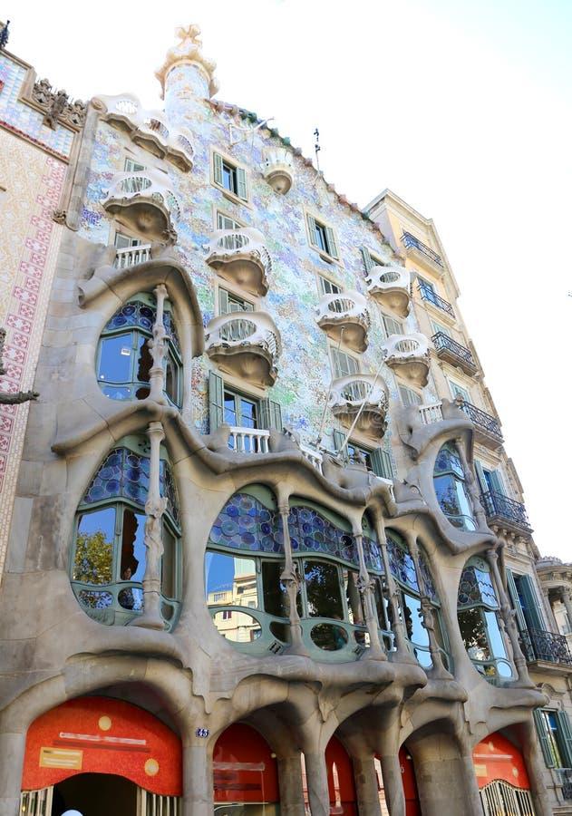 Casa Battlo - Barcellona fotografie stock libere da diritti