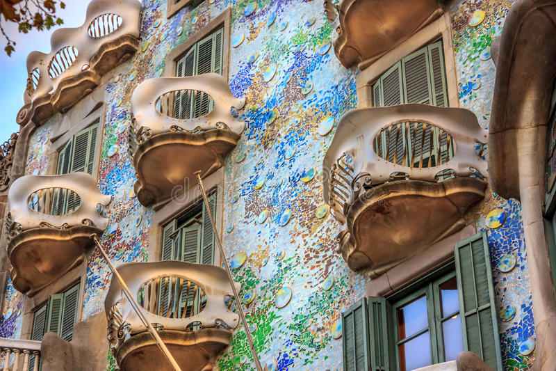 Casa Battlo, Barcelona royalty-vrije stock fotografie
