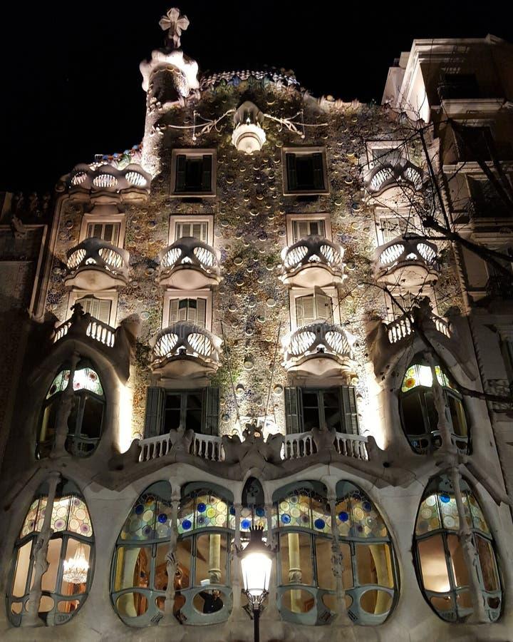 Casa Battlo, Barcelona royalty-vrije stock afbeelding