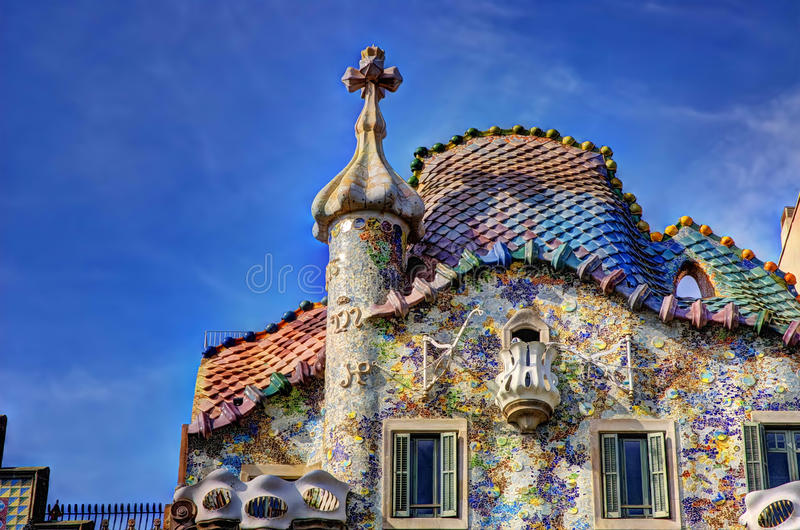 Casa Battlo. Casa Batlló (Catalan pronunciation: [ˈkazə βəˈʎːo]) is a renowned building located in the center of Barcelona and is one stock images