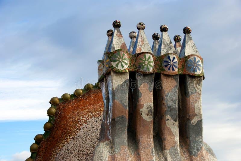 Casa Battlo - dakdetail royalty-vrije stock afbeeldingen