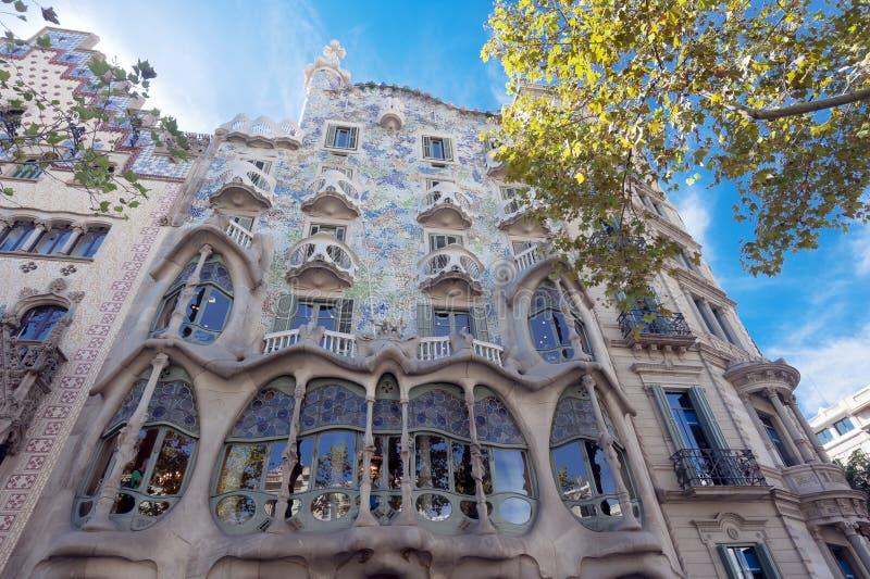 Casa Battlo de Barcelona foto de archivo libre de regalías
