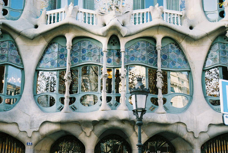 Casa battlo of Gaudi royalty free stock photos