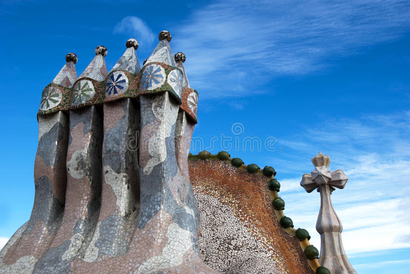Download Casa Battlo - roof detail stock photo. Image of colourful - 12212490