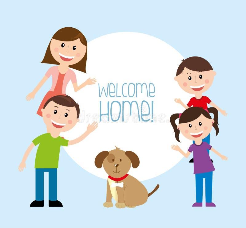 Casa bem-vinda ilustração do vetor