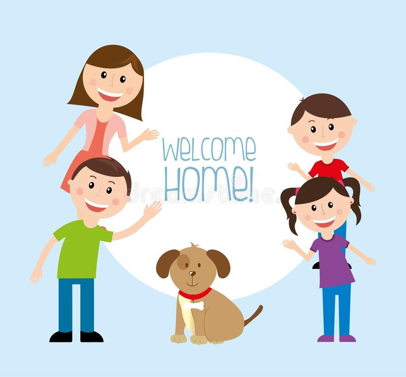 Casa benvenuta illustrazione vettoriale