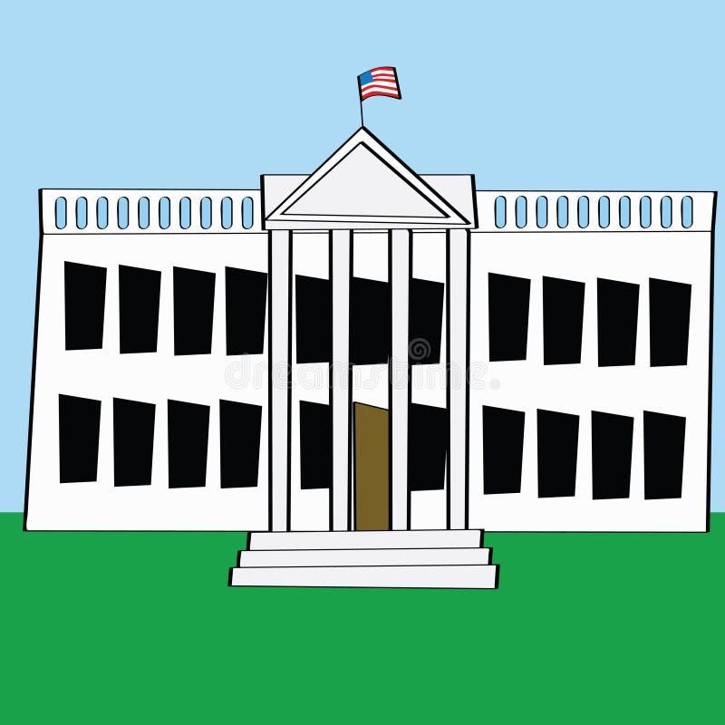 Download Casa bianca illustrazione vettoriale. Illustrazione di governo - 7304822