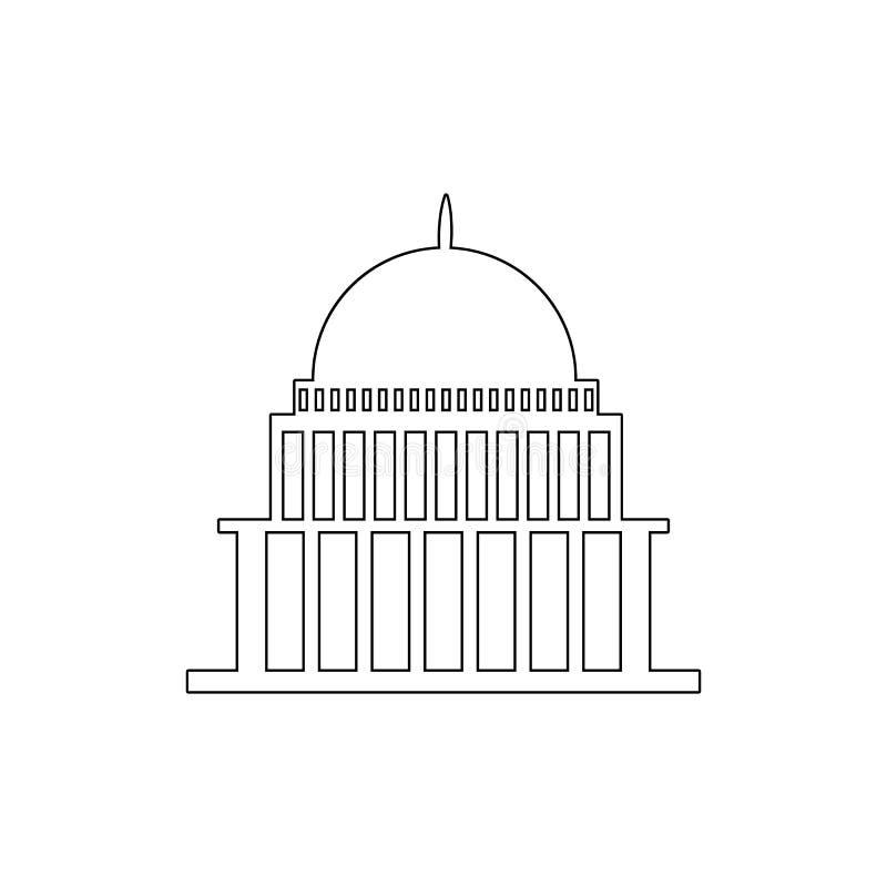 casa blanca, congreso capitoly que construye el icono del esquema Elementos del icono del ejemplo de los edificios Las muestras y libre illustration