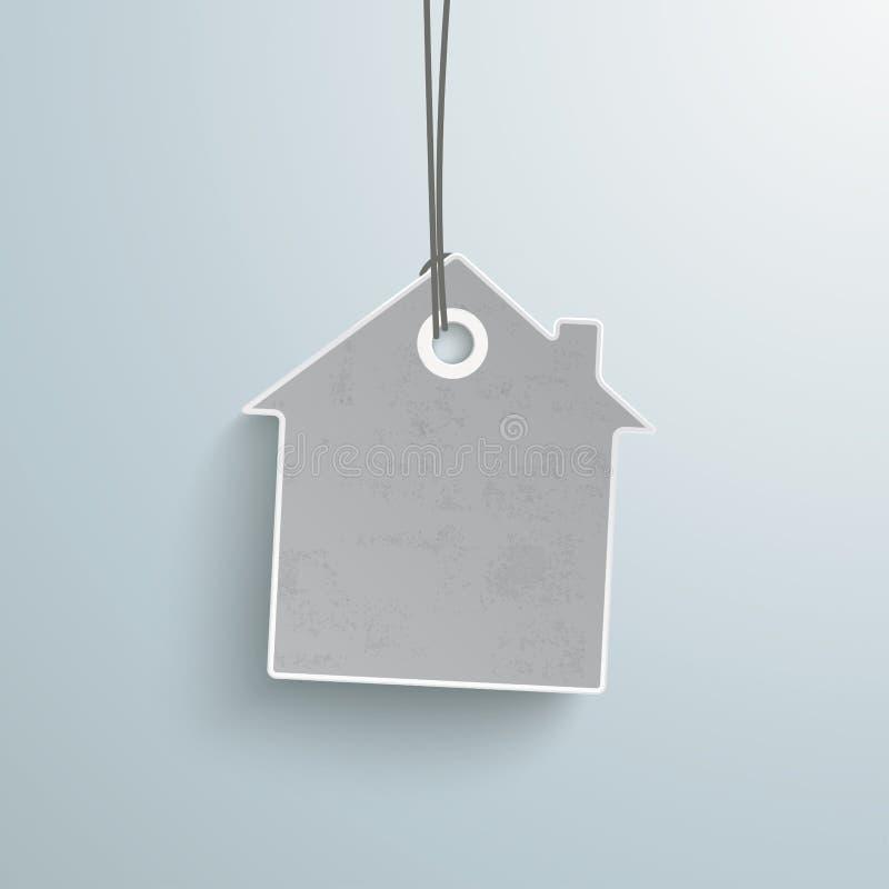 Casa blanca de la etiqueta engomada del precio stock de ilustración